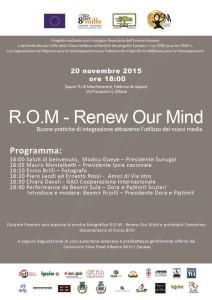 Locandina Evento R.O.M